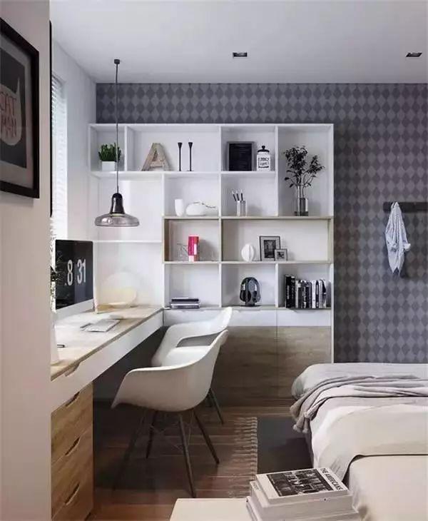 小户型想节省空间?卧室书房一体化设计
