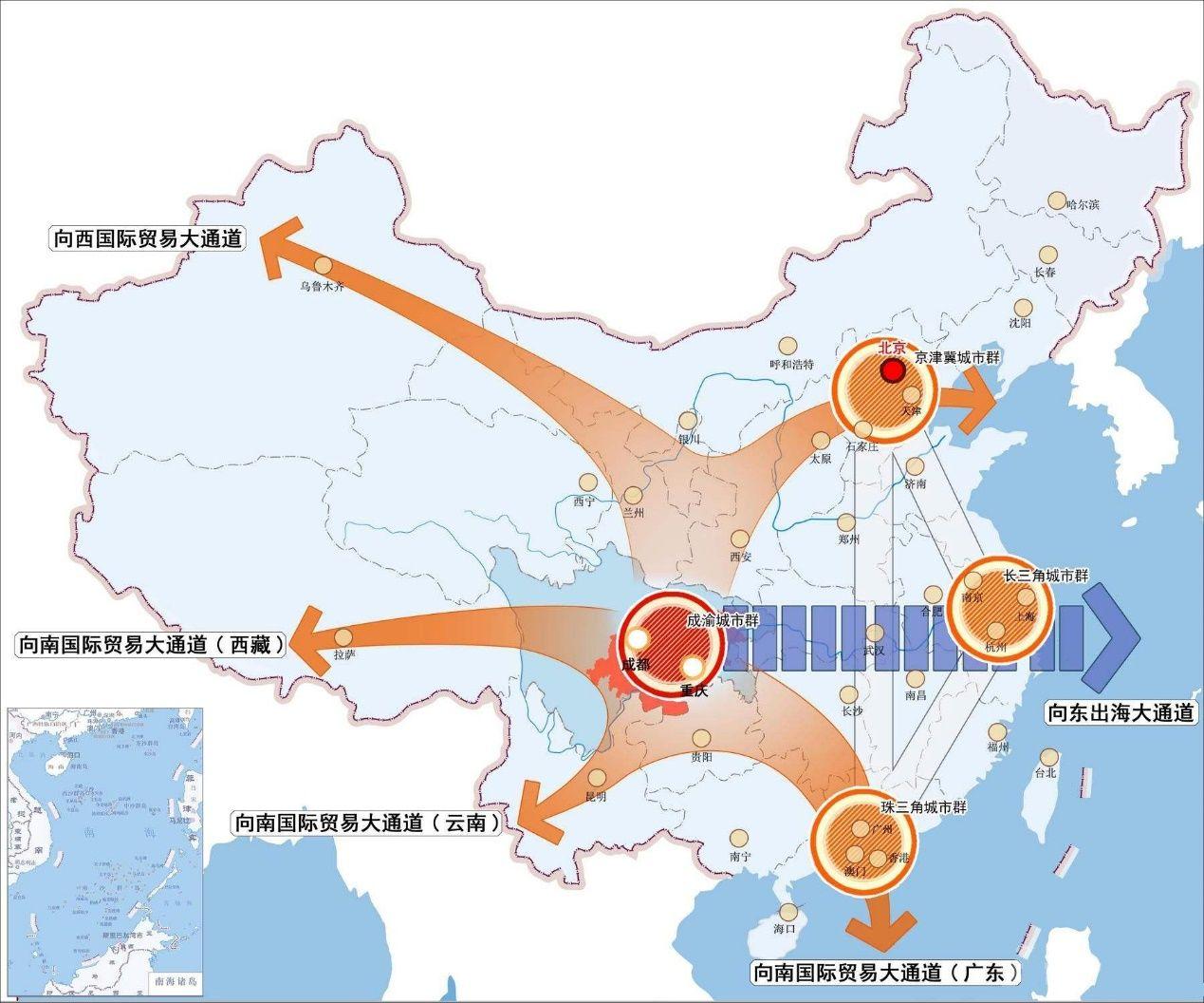 沈阳与大连,济南与青岛,福州与厦门,广州与深圳,它们都和成都与重庆