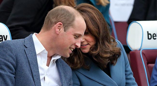凯特王妃怀三胎气质依旧  与老公耳语甜密十足