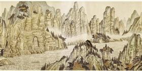 吕佛庭逾51米长卷《黄河万里图》(局部)
