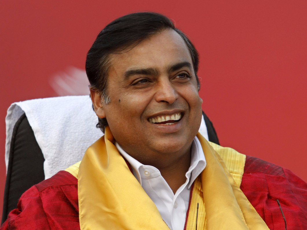 印度信实工业集团大股东兼董事长安巴尼,净资产400亿美元.