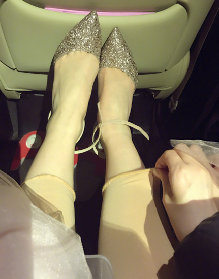 """景甜裹了秋裤依然是小细腿 变身""""腿精"""