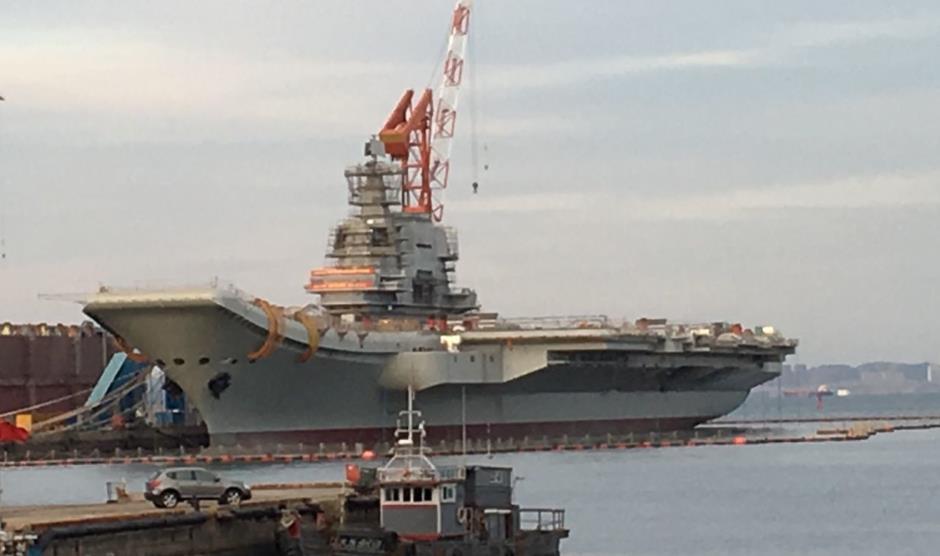 中国首艘国产航母离港开始海试?专家:谣传!(图)