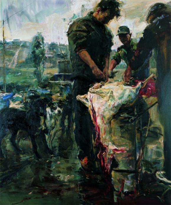 崔小冬油画作品欣赏:沉淀的传统 当代的乡愁
