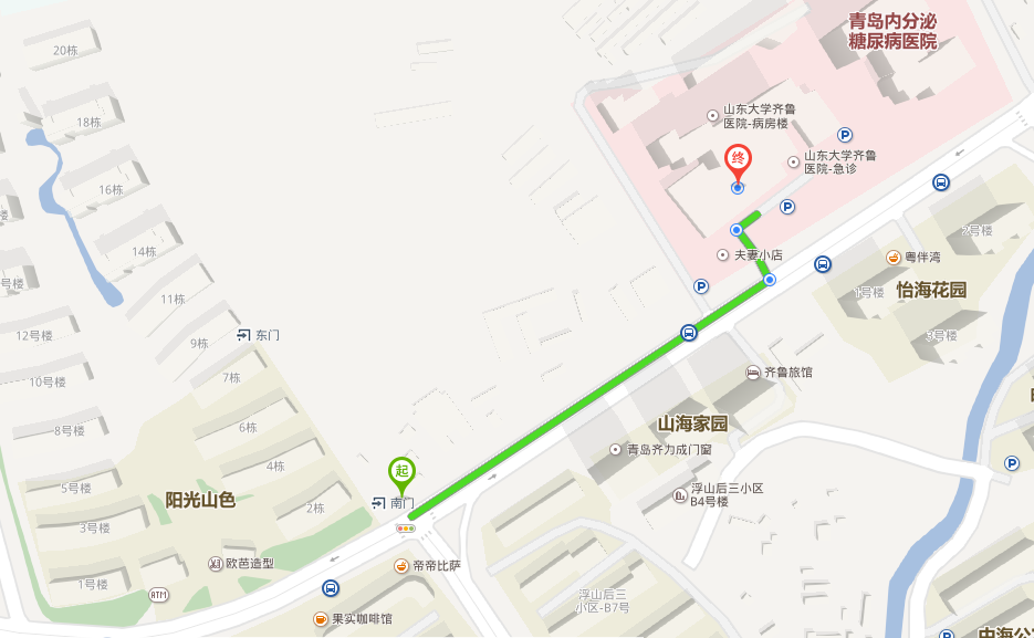 此可见,在建的山东大学齐鲁医院(青岛)二期项目正好位于阳光图片