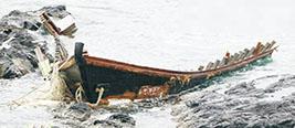 """日本海岸近期第6次发现""""幽灵船"""" 载3具男尸疑来自朝鲜"""