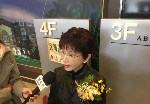 洪秀柱:台湾只是中国一个地方 国家统一不可放弃