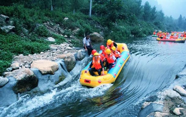 耍漂流、打水仗、惊险湿身就到河南尧山大峡谷漂流集团
