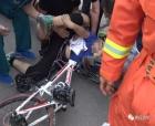 商丘一男孩騎自行車摔倒,車把插進大腿根
