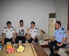 河南省公安廳副廳長吳忠華到商丘慰問因公殉職民警家屬和基層單位民警、輔警