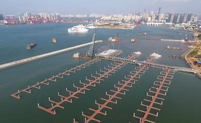 海口市国家帆船帆板基地公共码头项目加速建设