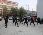 商丘梁园区法院:法警大队刻苦训练 迎接省高院星级警队验收