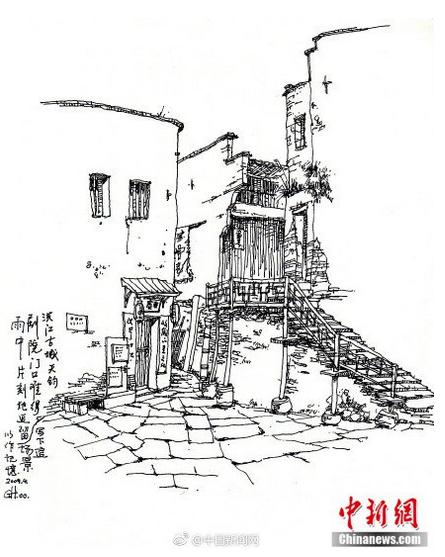 大学教授手绘古村落前世今生:传统文化的根在农村