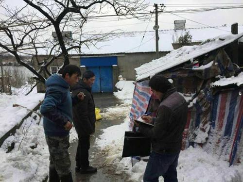 芜湖:塔影村动物防疫员多措并举应对雪灾
