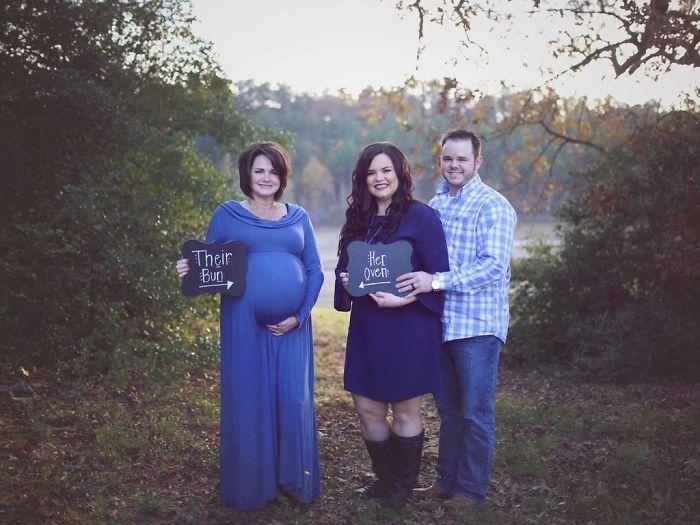 美国母亲为儿子做代孕妈妈 生下自己的