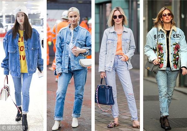 一个问题:牛仔外套+牛仔裤穿一套会不会很土?