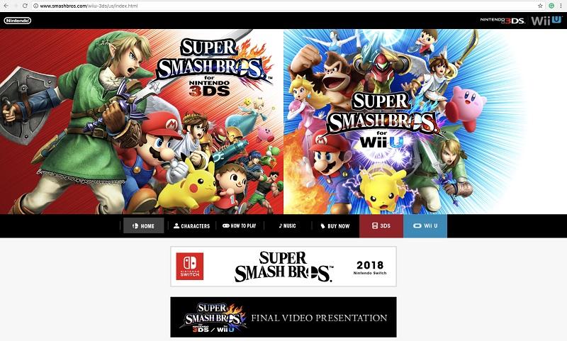 游戏资讯  《任天堂全明星大乱斗》的官方网站已经全面改版,删除了