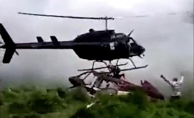 死神来了!男子被来救他的直升机切割致死
