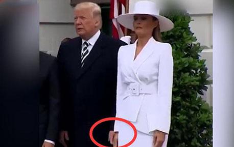 尴尬!欢迎仪式上特朗普试图牵梅拉尼娅手被冷漠回应