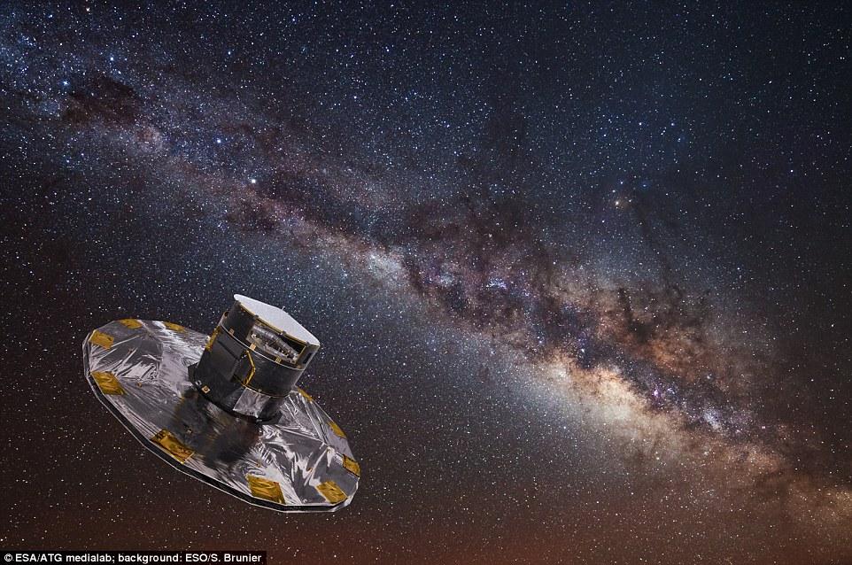 欧空局发布银河系最详细星图 包含约17亿颗恒星