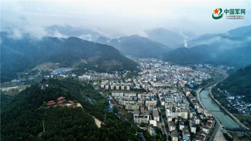 震后十年俯瞰青川 看不够你的山绵延水潺潺_青川|俯瞰