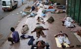 热浪袭击巴基斯坦 民众44℃高温下街头避暑