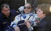 联盟号飞船着陆 美日俄宇航员平安返回地球