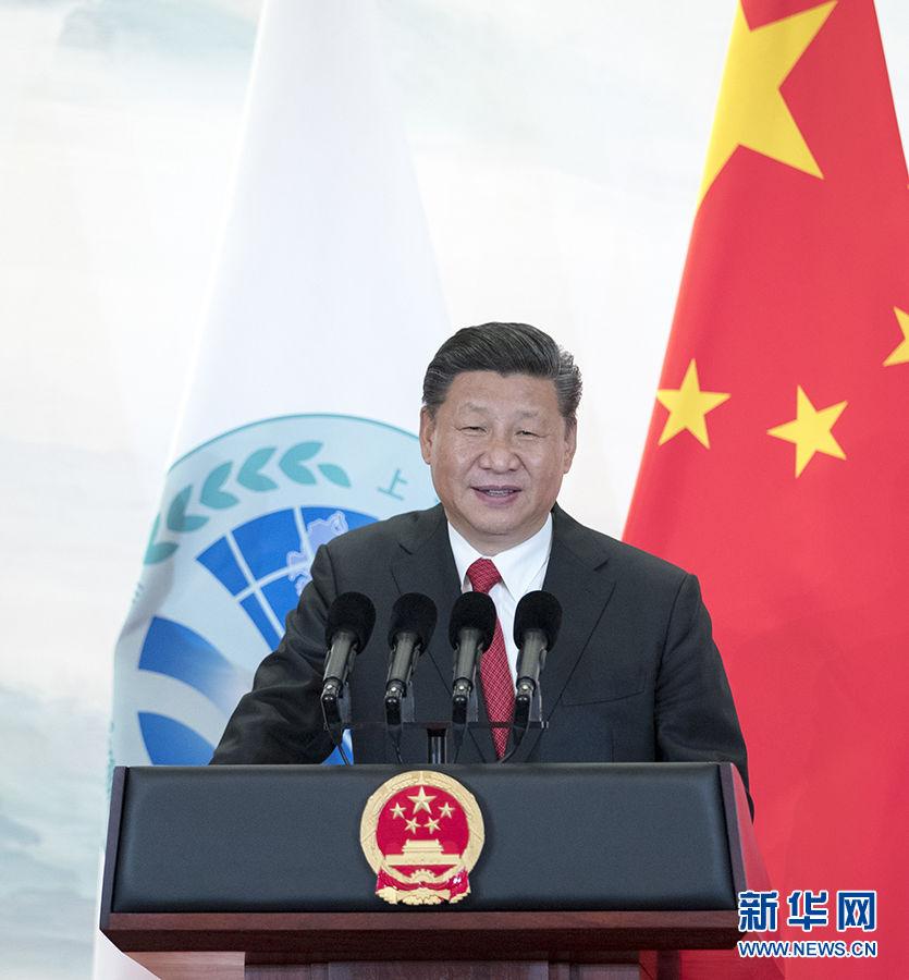 习近平欢迎出席上合峰会的外方领导人