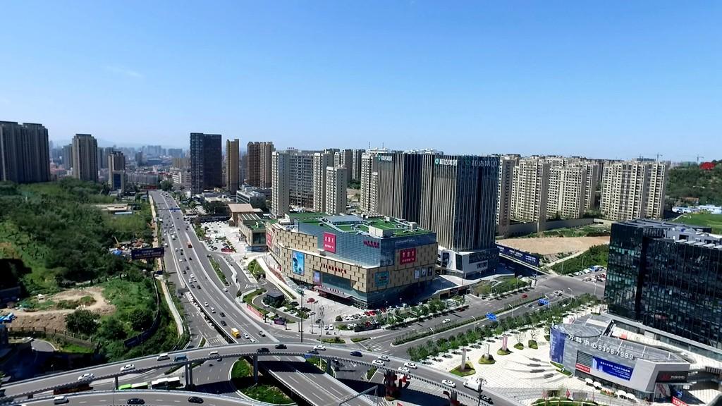 凤观青岛  市北区新都心商圈 新规划给人耳目一新的感觉,不但基本做到