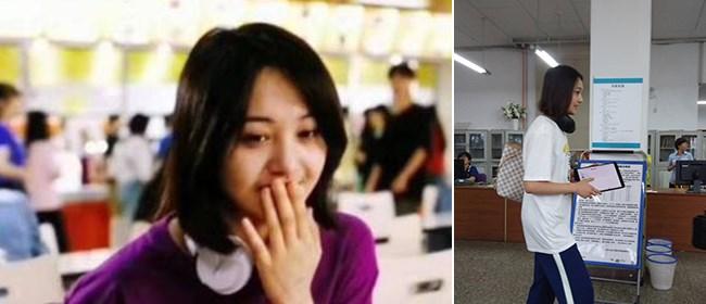 郑爽现身大学拍新剧 休闲打扮变酷酷女孩