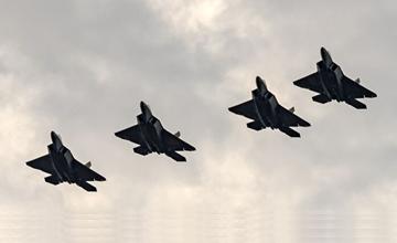 """F22现身波兰炫耀武力 俄罗斯:老飞机不可怕"""" width="""
