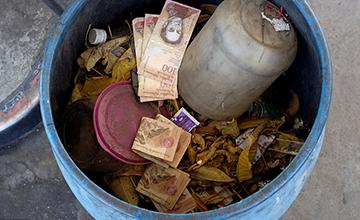 委内瑞拉:垃圾桶里都是钱