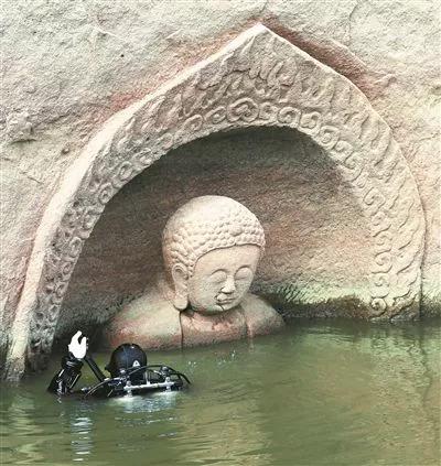 国家文物局抚州洪门两度下水库探查巨型佛像(图)