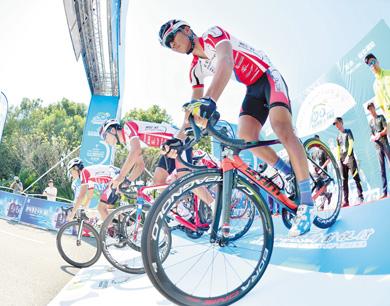 环鄱赛仙女湖站开骑 首次采用团体计时赛制