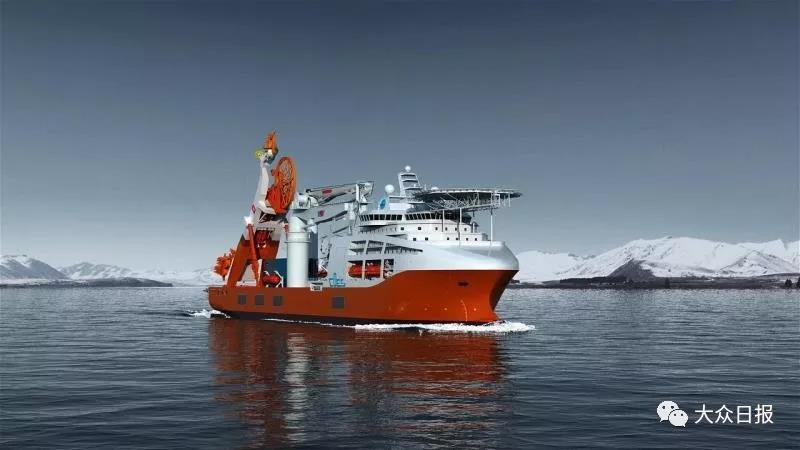 我国最先进、世界一流的新型深潜水工作母船开建