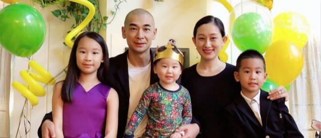 赵文卓夫妇为儿女庆生 小公主穿礼服小王子西装帅气