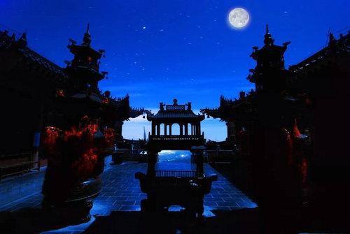 云台山沐景赏月