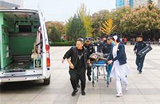 陕西省举行高校反恐地震消防应急处置示范演练