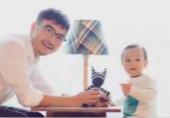 汪涵与儿子幸福同框