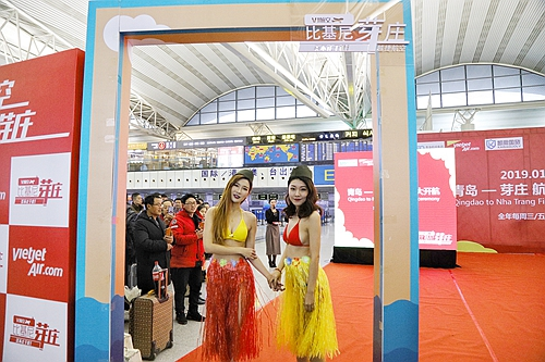 2013064双色球热辣比基尼航空青岛直飞越南芽庄航线1月9日正式