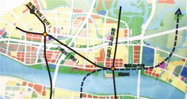 广州白云山主门将增至6个 海珠创新湾新增地铁20号线
