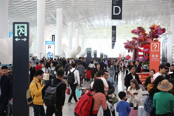 深圳机场春运客流首破600万 同比增长10.3%