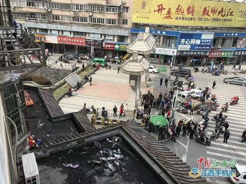 高空作业支架断裂 九江一男子不慎坠落身亡