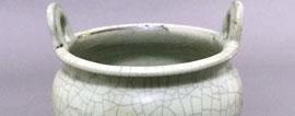 30年前宜丰出土的开片青釉陶香炉 初定为国宝