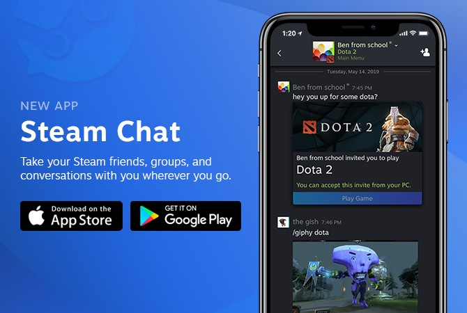Valve推出全新Steam社交应用 约战交流更加方便