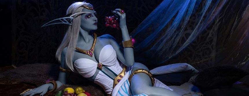 《魔兽世界》艾萨拉女王Cosplay 神还原级