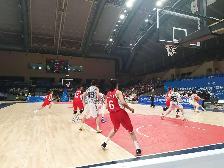 武汉军运会女篮测试赛正在光谷体育馆开赛