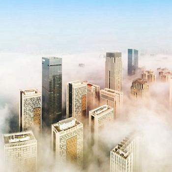 合肥:云雾缭绕 宛若空中城