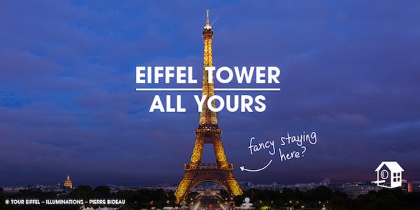 airbnb:登上埃菲尔铁塔