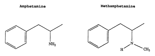 安非他命(左)和甲基苯丙胺(右)的结构相似.图片来源:pubchem.ncbi.
